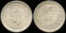 World Coins - 1944 India (British) 1 Rupee AU