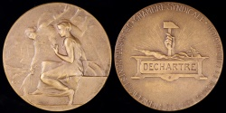 World Coins - 1924 France - Syndicate of the Instruments and Devices of the Surgical Arts Award Medal by Henri Dropsy