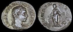 Ancient Coins - Elagabalus Denarius - ABVNDANTIA AVG - Rome Mint