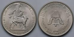 Us Coins - 1938 New Rochelle, New York 250th Anniversary Commemorative Silver Half Dollar (Only 15,266 pieces were struck) - BU