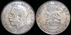 World Coins - 1924 Great Britain 1 Shilling - George V - XF