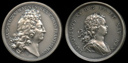 World Coins - 1715  France - Louis XV on his Accession by James Roettiers and Jean Duvivier