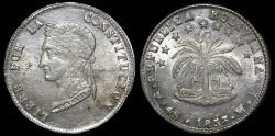 World Coins - 1853 PTS-FP Bolivia 4 Soles UNC