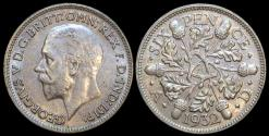 World Coins - 1932 Great Britain 6 Pence - George V - AU
