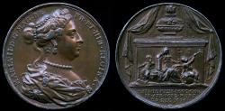 """World Coins - 1731 Great Britain – Queen Mary II (From his series """"Kings and Queens of England"""")"""