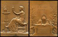 World Coins - 1910 France – Ceramic Arts Award Medal by Georges Henri Prud'homme