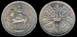 World Coins - 1953 Great Britain 1 Crown - Coronation of Queen Elizabeth II - BU