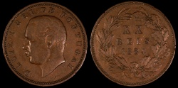 World Coins - 1884 Portugal 20 Reis - Luiz I - XF