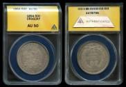 World Coins - 1894 Uruguay 50 Centesimos ANACS AU50