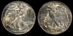 Us Coins - 1945 P Walking Liberty Half Dollar BU