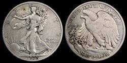 Us Coins - 1935 P Walking Liberty Half Dollar XF