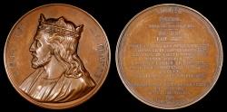 World Coins - 1840 France - King Eudes (Odo) by Armand Auguste Caque for the series Galerie Numismatique des rois de France #30