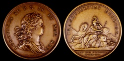 World Coins - 1720 France - Louis XV - Peace with Spain by Jean Duvivier