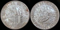 World Coins - 1952 Cuba 20 Centavos - 50th Year of the Republic - Silver Commemorative - XF