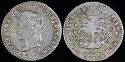 World Coins - 1861 PTS-FJ Bolivia 1/2 Sol - PT in monogram, not PTS - AU Silver
