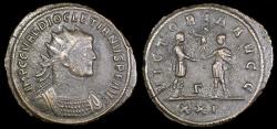 Ancient Coins - Diocletian Antoninianus - VICTORIA AVG - Cyzicus Mint