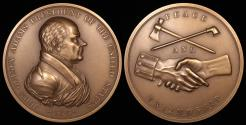 "Us Coins - 1825 John Quincy Adams ""Indian Peace Medal"" - Sixth President of the United States (March 4, 1825 to March 3, 1829) - Original US Mint Medal by Moritz Furst and John Reich"