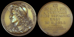 World Coins - 1823  France - Anne Hilarion de Costentin, comte de Tourville (French naval commander and a Marshal of France) by Joseph Arnold Pingret