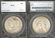 Us Coins - 1880s Morgan Dollar SEGS MS64