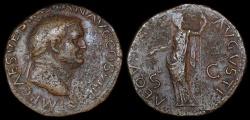 Ancient Coins - Vespasian Dupondius - AEQUITAS AUGUSTI - Lugdunum Mint