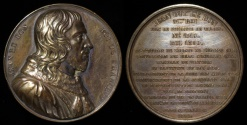 """World Coins - 1837 France - King John II """"Jean le Bon (the good king)""""of the House of Valois by Armand Auguste Caque #51"""