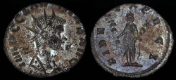 Ancient Coins - Claudius II Billon Antoninianus - FIDES EXERCI - Rome Mint