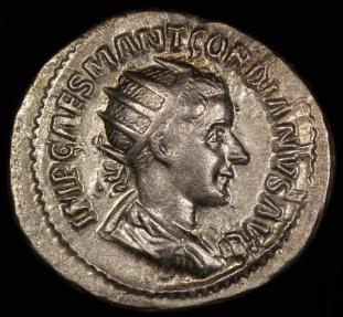 Ancient Coins - Gordian III Antoninianus - P M TR P II COS P P - Rome Mint