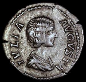 Ancient Coins - Julia Domna Denarius - PIETAS AVGG - Rome Mint