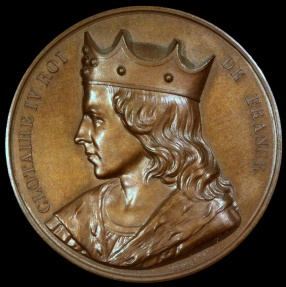World Coins - 1840 France - Chlothaire IV, King of Austrasia (717 - 719) by Armand-Auguste Caqué for the