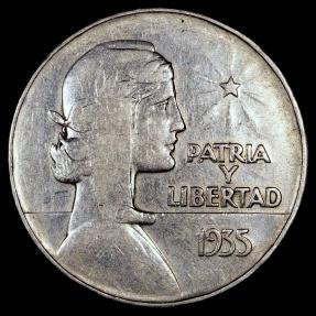 World Coins - 1935 Cuba 1 Peso