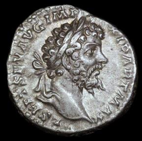 Ancient Coins - Septimus Severus Denarius - AEQVITATI AVGG - Laodicea Mint