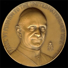US Coins - 1965 United States – Pope Paul VI Visit to the United Nations