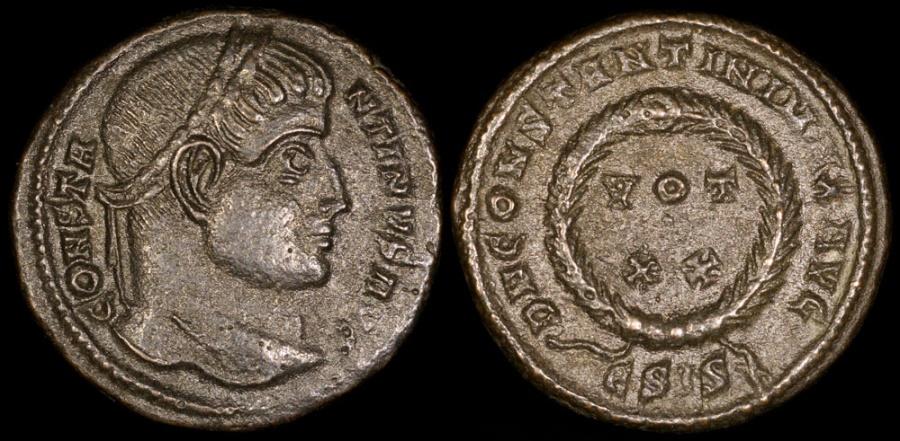 Ancient Coins - Constantine I Ae3 - D N CONSTANTINI MAX AVG - Siscia Mint
