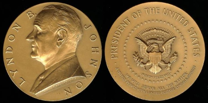 US Coins - 1963 Lyndon Baines Johnson - US Mint Medal