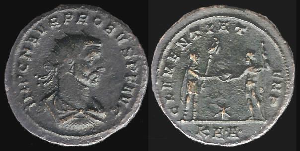 Ancient Coins - Probus Antoninianus - CLEMENTIA TEMP - Serdica Mint