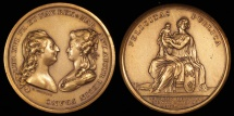 World Coins - 1781 France - Louis XVI and Marie Antoinette Birth of Dauphin by Pierre-Simon-Benjamin Duvivier