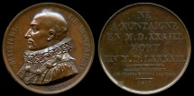 World Coins - 1817  France - Michel Eyquem de Montaigne, one of the most influential writers of the French Renaissance by Jacques-Édouard Gatteaux