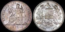 1895 Guatemala 1 Peso - Justice Seated - AU