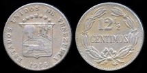 World Coins - 1946 Venezuela 12-1/2 Centimos VF