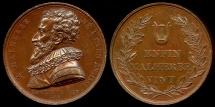 World Coins - 1815  France - François de Malherbe, French poet, critic, and translator; Commemorative Medal by Jacques-Édouard Gatteaux
