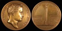 World Coins - 1805  France - Napoleon - Column of the Grand Army by Jean-Bertrand Andrieu, Nicolas Guy Antoine Brenet and Dominique-Vivant Denon
