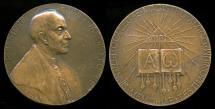 World Coins - 1928  Belgium - Eximio Jacobo Forget, professor of theology and oriental languages at the University of Leuven, Belgium by Antoine Jorissen.