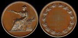 World Coins - 1860 France – Arts Award Medal