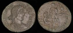 Ancient Coins - Theodosius I Ae2 - REPARATIO REIPVB - Siscia Mint