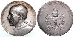 World Coins - 1958 Vatican - Pius XII – Opus Iustitiae Pax Medal