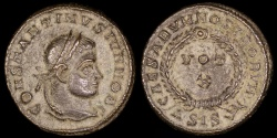 Ancient Coins - Constantine II Ae3 - CAESARVM NOSTRORVM - Siscia Mint