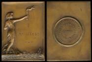 World Coins - 1928 Belgium - Tennis Championship Medal