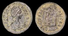 Ancient Coins - Aelia Flaccilla Ae4 - SALVS REIPVBLICAE - Heraclea Mint