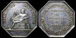 World Coins - 1845 France - Jeton - Dieppe Chamber of Commerce by Joseph François Domard and Alphée Dubois