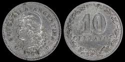 World Coins - 1906 Argentina 10 Centavo XF